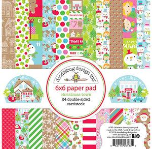 Christmas Paper Pad: Christmas Town | www.bakerspartyshop.com
