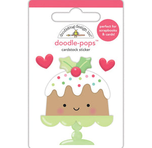 Large Christmas Cake Sticker | www.bakerspartyshop.com