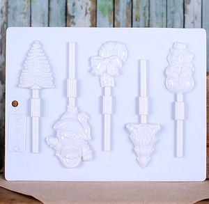 Multi Christmas Lollipop Mold | www.bakerspartyshop.com
