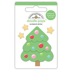 Doodle-Pops Christmas Tree Sticker | www.bakerspartyshop.com
