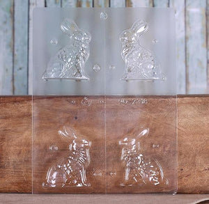 Classic Rabbit Candy Mold: 3"