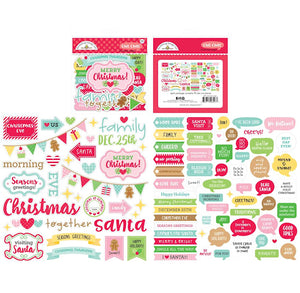 Christmas Paper Die Cuts: Christmas Magic Chit Chat | www.bakerspartyshop.com