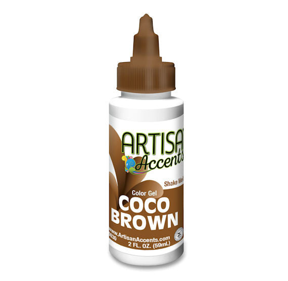 Artisan Accents Brown Color Gel Food Coloring, Brown Food Coloring ...