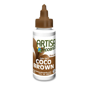 Artisan Accents Brown Color Gel Food Coloring | www.bakerspartyshop.com