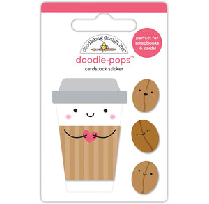 Doodle-Pops Coffee Stickers | www.bakerspartyshop.com