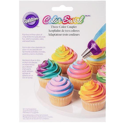 Wilton Color Swirl Three Color Coupler | www.bakerspartyshop.com