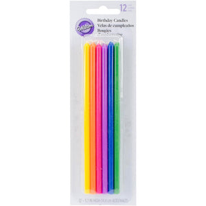 Long Rainbow Cake Candles | www.bakerspartyshop.com