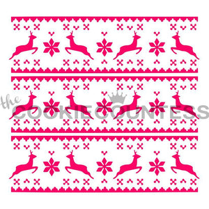 Fair Isle Sweater Cookie Stencil | www.bakerspartyshop.com