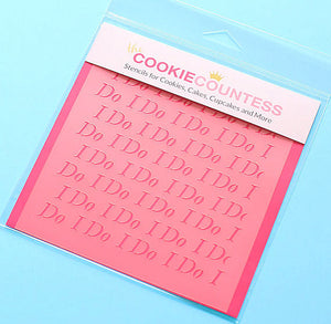 I Do Cookie Stencil | www.bakerspartyshop.com
