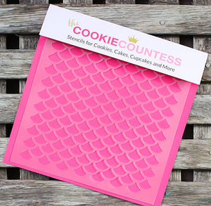 Scales Cookie Stencil | www.bakerspartyshop.com