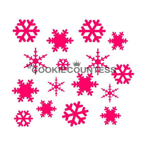 Snowflake Cookie Stencil | www.bakerspartyshop.com