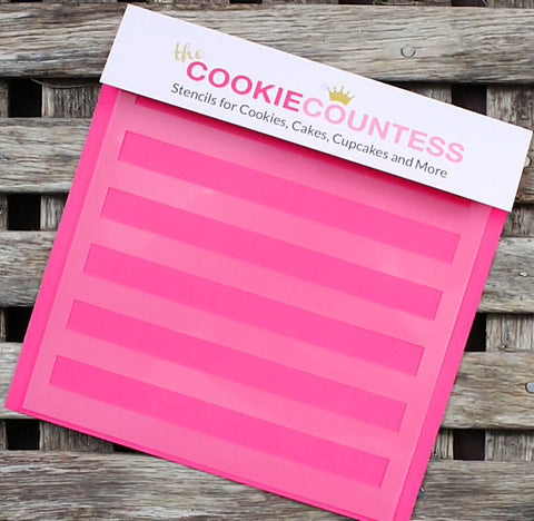 Wide Stripe Cookie Stencil | www.bakerspartyshop.com