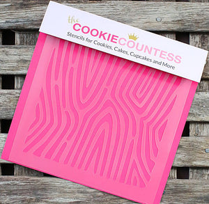 Wood Grain Cookie Stencil | www.bakerspartyshop.com