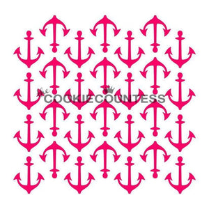 Anchor Cookie Stencil | www.bakerspartyshop.com