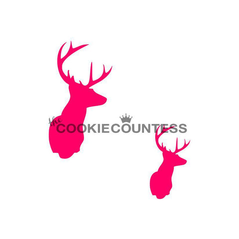 Deer Head Cookie Stencil | www.bakerspartyshop.com