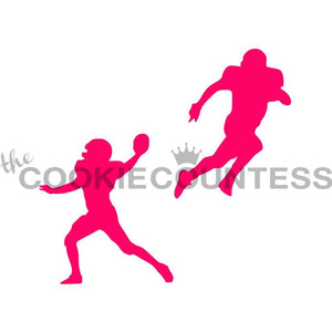 Football Players Cookie Stencil | www.bakerspartyshop.com