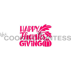 Happy Thanksgiving Cookie Stencil | www.bakerspartyshop.com