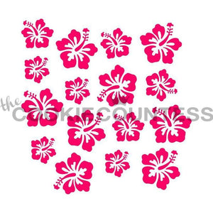 Hibiscus Flowers Cookie Stencil | www.bakerspartyshop.com