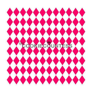 Mini Harlequin Cookie Stencil | www.bakerspartyshop.com