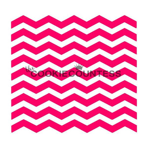 Narrow Chevron Cookie Stencil | www.bakerspartyshop.com