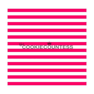 Narrow Stripe Cookie Stencil | www.bakerspartyshop.com