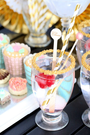 Silver & Gold Foil Paper Straws: Stripe | www.bakerspartyshop.com