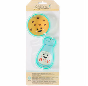 Sweet Sugarbelle Milk and Cookies Cookie Cutters | www.bakerspartyshop.com