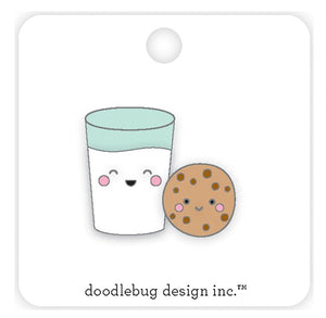 Milk and Cookies Enamel Pin | www.bakerspartyshop.com