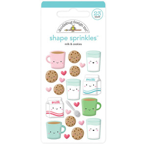 Glossy Milk and Cookies Stickers | www.bakerspartyshop.com