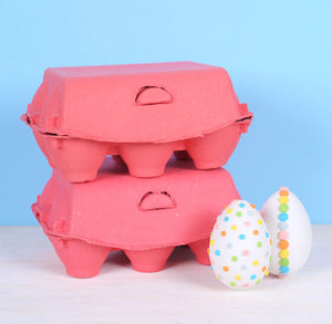 Coral Egg Cartons: 6 Egg | www.bakerspartyshop.com
