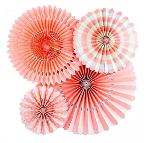 Coral Party Fans | www.bakerspartyshop.com