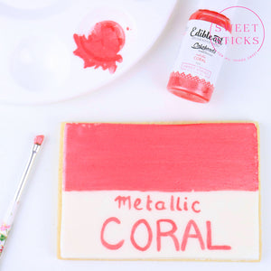 Metallic Coral Edible Art Paint | www.bakerspartyshop.com