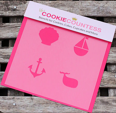 Nautical Cookie Stencil | www.bakerspartyshop.com