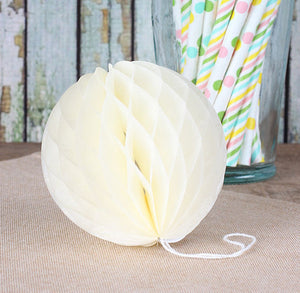 Light Yellow Honeycomb Tissue Balls: 3"