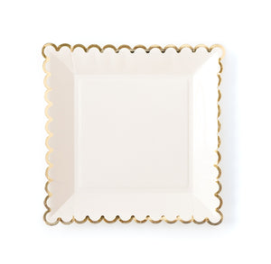 Large White Plates | www.bakerspartyshop.com