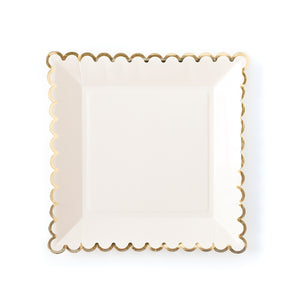 Large Cream Plates | www.bakerspartyshop.com