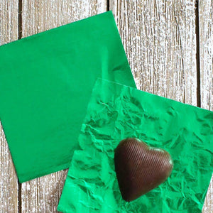 Green Foil Candy Wrappers | www.bakerspartyshop.com