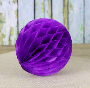 Dark Purple Honeycomb Tissue Balls: 3"