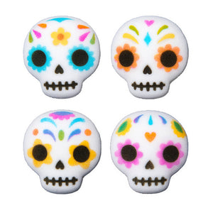 Day of the Dead Skull Sugar Toppers | www.bakerspartyshop.com