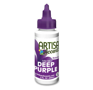 Artisan Accents Deep Purple Color Gel Food Coloring | www.bakerspartyshop.com