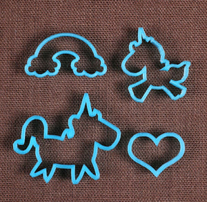 Designer Unicorn Cookie Cutter Set | www.bakerspartyshop.com