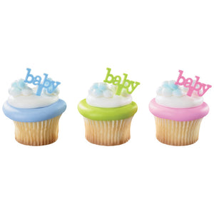 Baby Cupcake Picks | www.bakerspartyshop.com