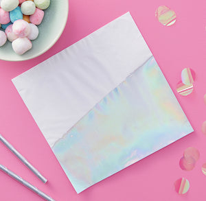 Dipped Iridescent Napkins | www.bakerspartyshop.com
