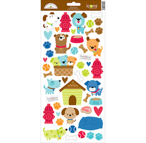 Doodlebug Puppy Stickers | www.bakerspartyshop.com
