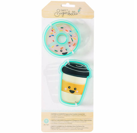 Sweet Sugarbelle Coffee and Donut Cookie Cutters | www.bakerspartyshop.com