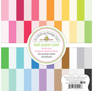 Swiss Dot Rainbow Paper Pad | www.bakerspartyshop.com