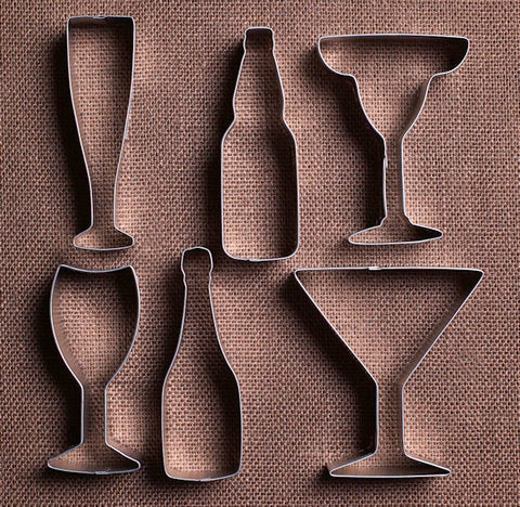 Cocktail Cookie Cutters Set | www.bakerspartyshop.com