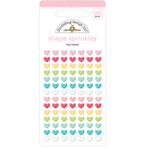 Glossy Tiny Heart Stickers | www.bakerspartyshop.com