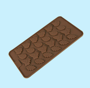 Fall Leaves Chocolate Mold | www.bakerspartyshop.com