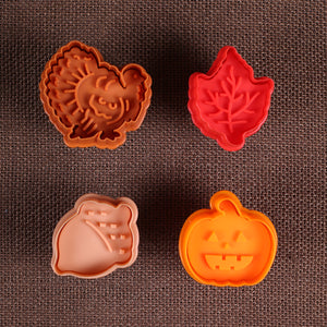 Fall Cookie Cutter Stampers | www.bakerspartyshop.com